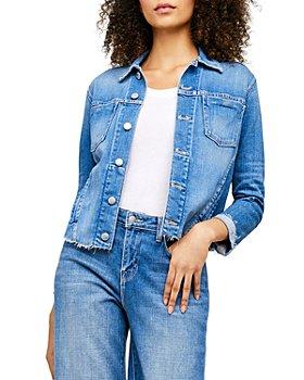 L'AGENCE - Janelle Slim-Fit Raw Denim Jacket