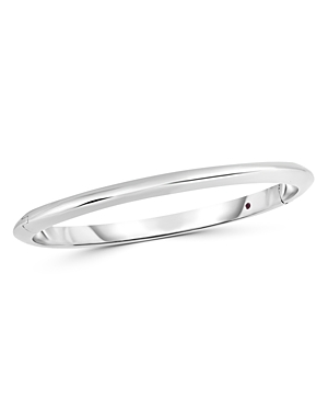 Roberto Coin 18K White Gold Knife Edge Bangle Bracelet-Jewelry & Accessories