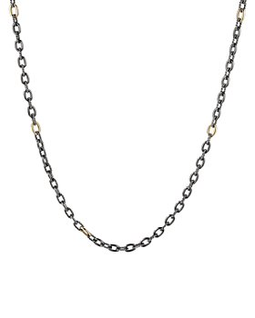 David Yurman - Stax Blackened Sterling Silver and 18K Gold Chain Necklace, 32""