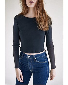 AMO - Cropped Ribbed Top