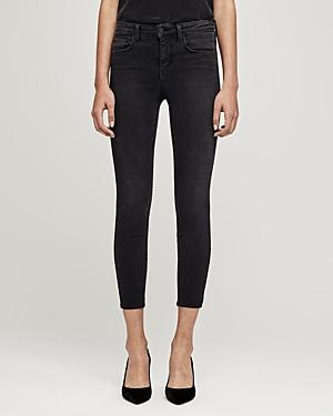 L\\\'Agence Margot High-Rise Skinny Jeans in Dark Graphite-Women