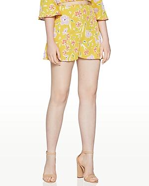 Floral Print High-Waist Shorts