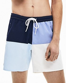 Lacoste - Quick-Dry Color-Blocked Swim Trunks