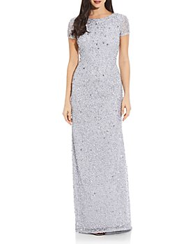 Adrianna Papell - Sequined Scoop-Back Gown