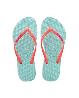 havaianas - Girls' Slim Logo Pop Up Flip Flops - Toddler, Little Kid