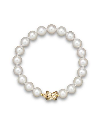 Bloomingdale's - Cultured Freshwater Pearl Small Bracelet in 14K Yellow Gold, 8mm - 100% Exclusive