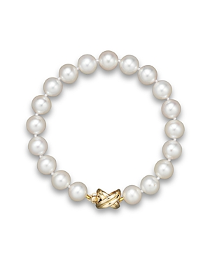 Cultured Freshwater Pearl Medium Bracelet in 14K Yellow Gold, 8mm