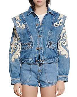 Sandro - Kevin Embroidered Denim Jacket