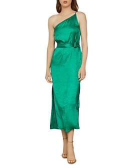 BCBGMAXAZRIA - One-Shoulder Satin Dress