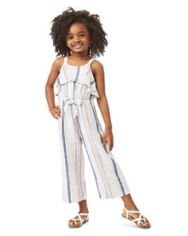 Habitual Kids - Girls' Jayda Striped Ruffled Jumpsuit - Little Kid