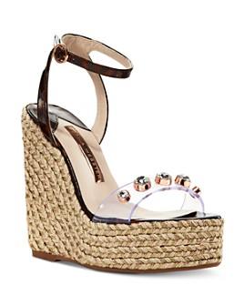 Sophia Webster - Women's Dina Gem Espadrille Wedge Sandals