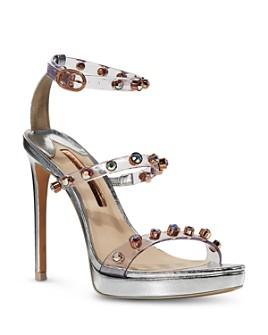 Sophia Webster - Women's Rosalind Cubic Zirconia & Synthetic Pearl High Heel Platform Sandals
