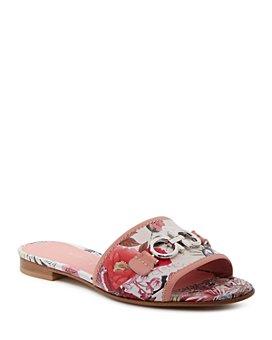 Salvatore Ferragamo - Women's Floral Print Slide Sandals