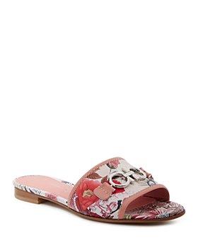 Salvatore Ferragamo - Women's Embellished Slip On Sandals