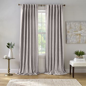 """Elrene Home Fashions - Carnaby Distressed Velvet Window Curtain, 50"""" x 84"""""""