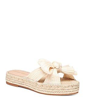 Loeffler Randall - Women's Juniper Pleated Knot Espadrille Sandals