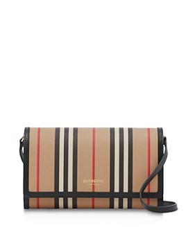 Burberry - Icon Stripe E-Canvas Wallet with Detachable Strap
