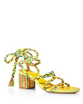 ANTOLINA - Women's Woven Ankle Wrap Block Heel Sandals