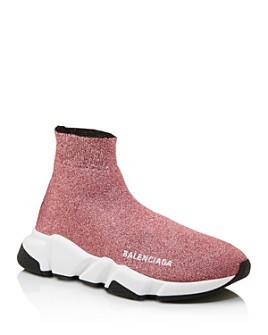 Balenciaga - Women's Speed Glitter Sock Sneakers