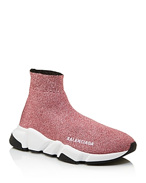 Balenciaga Women's Speed Glitter Sock Sneakers