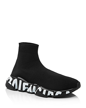 Balenciaga Women's Speed Logo Sole Sock Sneakers