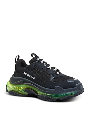 Balenciaga Men's Triple S Clear Sole Sneakers