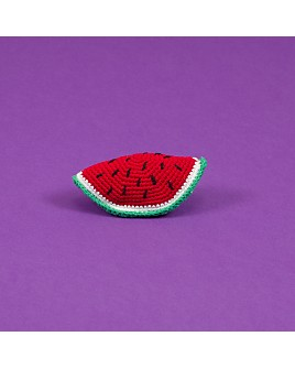 Ware of the Dog - Hand Crocheted Watermelon Dog Toy with Squeaker