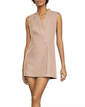 BCBGMAXAZRIA - Caryn Faux-Leather Wrap Dress
