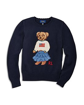 Ralph Lauren - Girls' Iconic Bear Sweater - Big Kid