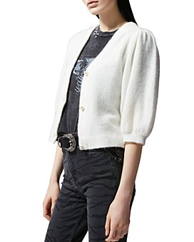 The Kooples - Faux Pearl Button Cardigan