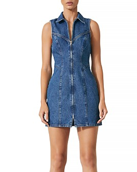 GRLFRND - Colette Denim Dress in In My Dreams