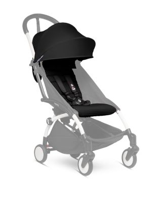 Babyzen YOYO2 Stroller Black Frame with Black Seat Cushion /& Canopy