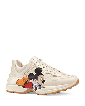 Gucci - Women's Disney x Gucci Rhyton Mickey Mouse Leather Sneakers