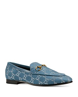 Gucci - Women's Jordaan GG Lamé Loafers