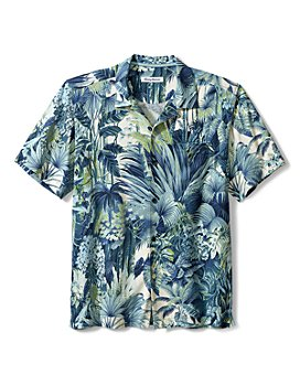 Tommy Bahama - Men's Silk Jacquard Floral Print Classic Fit Button Down Camp Shirt