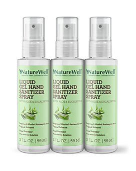 NatureWell - Liquid Gel Hand Sanitizer Spray with Aloe and Eucalyptus, Pack of 3
