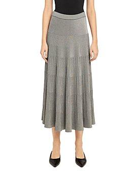 Theory - Ribbed Midi Skirt