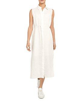 Theory - Linen Midi Shirt Dress