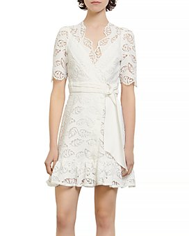 Sandro - Zany Lace Mini Dress