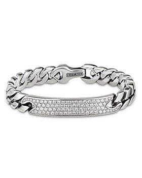 David Yurman - Curb Chain ID Bracelet with Pavé Diamonds