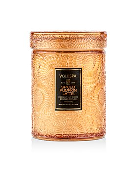 Voluspa - Spiced Pumpkin Latte Mini Tall Glass Jar Candle with Lid