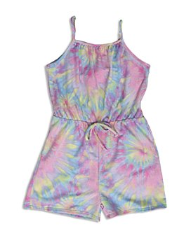AQUA - Girls' Tie Dyed Romper, Big Kid - 100% Exclusive