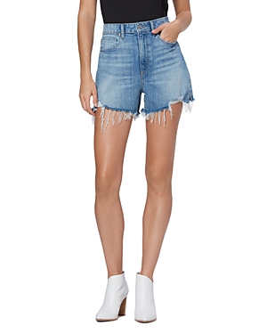 Paige HIGH RISE LAUREL CANYON JEAN SHORTS IN LEELA DESTRUCTED