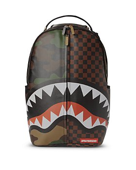 Sprayground - Unisex Checks & Camouflage Backpack