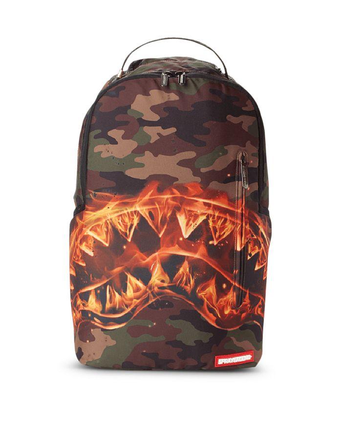 Sprayground - Boys' Fire Shark Camo Print Backpack