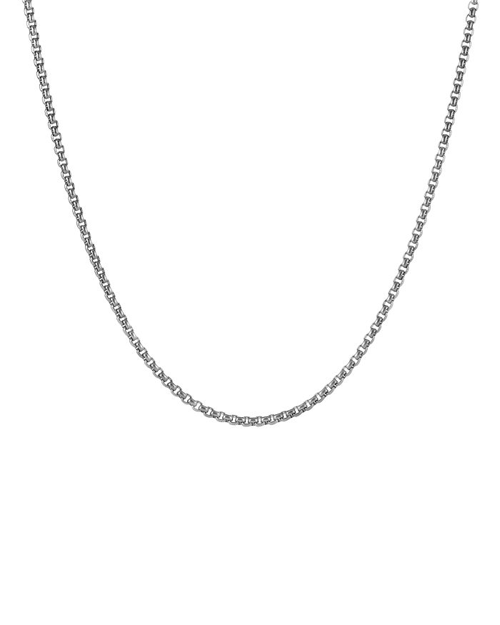 David Yurman - Men's Small Box Chain Necklace 2.7mm