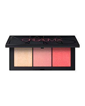 What It Is: A limited-edition cheek palette featuring universally flattering shades. Three stimulating shades. One for every pleasure. Hit all the right spots with a coveted cheek trio for a naturally dimensional glow. Featuring New Orgasm X Blush and cult-favorite Orgasm Blush, plus Orgasm Highlighting Powder for sultry, second-skin luster. Build the thrill. What It Does: Superfine, micronized powder pigments provide easy, blendable application for a naturally flushed effect. Buildable pigment