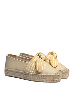 Castañer - Women's Kay Striped Bow Espadrille Flats