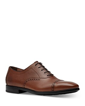 Salvatore Ferragamo - Men's Riley Leather Cap Toe Oxford Dress Shoes - Regular