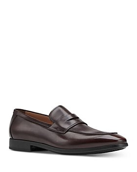 Salvatore Ferragamo - Men's Recly Leather Slip On Penny Loafers